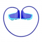 Sports Rechargeable MP3 Player Headset - Blue (2GB)