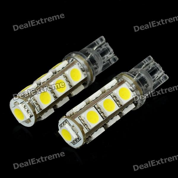T10 2.6W 195LM Cold White Light 13*5050 SMD LED Car Bulb (24V / 2PCS)