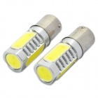 High Power 6W 6000K 500LM 4-LED Car White Light Bulbs (DC 12~24V / Pair)