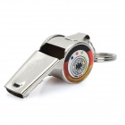 Cool Aluminum Cheering Whistle with Germany National Soccer Team Logo - Silver