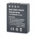 Replacement 7.4V 950mAh Battery for Fujifilm NP-W126
