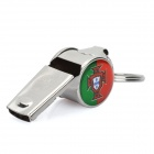 Cool Aluminum Cheering Whistle with Portuguese National Soccer Team Logo - Silver