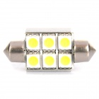 1W 14~16LM 6000~7000K 6x5050 SMD LED Car White Light Bulb (12V)