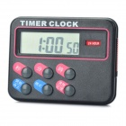"1.5"" LCD Electronic Memory Timer Clock - Black"