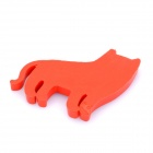 Cute Cat Style Silicone Earphone Cable Winder Organizer - Red