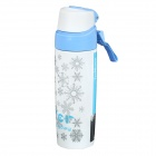 TeaMaster Stainless Steel Sports Vacuum Bottle - White + Blue (340ml)