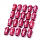 D1 Spec P1.25mm Light Weight Wheel Nuts - Red (20-Piece Pack)