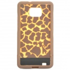 Giraffe Pattern Protective PC Plastic Case for Samsung Galaxy S2 i9100 - Brown
