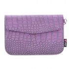 Crocodile Grain Pattern Protective PU Leather Case with Strap for Samsung P1000 - Purple