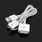 2-in-1 Data & Charging Connection Cable Kit for iPad - White (110cm-Length)