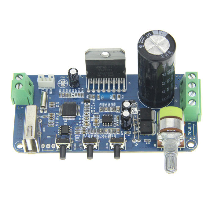 12V 35W Dual Channel Decoding Power Amplifier Module Board 2 dual channel tda2030a amplifier module