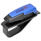 Car Vehicle Sun Visor Clip Sunglasses/Eyeglass Holder - Blue