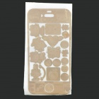 Cute Cartoon Style Decorative Protective Cover Skin Sticker for iPhone - Golden
