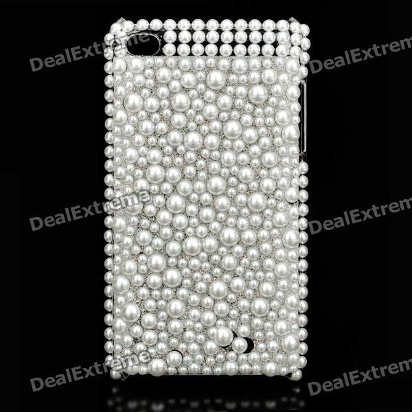 Acrylic Diamond Protective Plastic Case for   Ipod Touch 4 - White