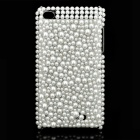 Acrylic Diamond Protective Plastic Case for Apple iPod Touch 4 - White