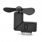 Mini 2-Blade Cooling Dock Fan for iPhone / iPad / iPod Touch - Black