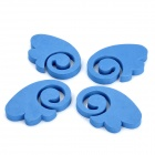 Auto Car Door Guard Protector Decorative Sticker - Blue (4-Piece)