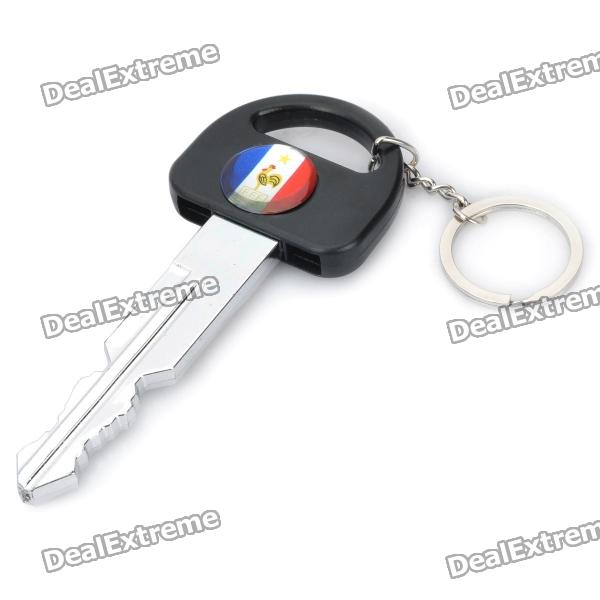 UEFA Euro 2012 Car Key Style Keychain with France Football Team Logo Image