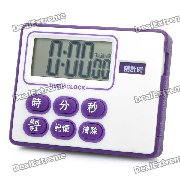 1.5 LCD Countdown Timer Clock with Magnet Mount (1 x 357A) tl 031 2 3 lcd thermometer w clock countdown white black 1 x aaa