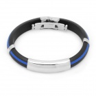 Stainless Steel Pressure Reduction Magnetic Bracelets Bangles - Black + Blue