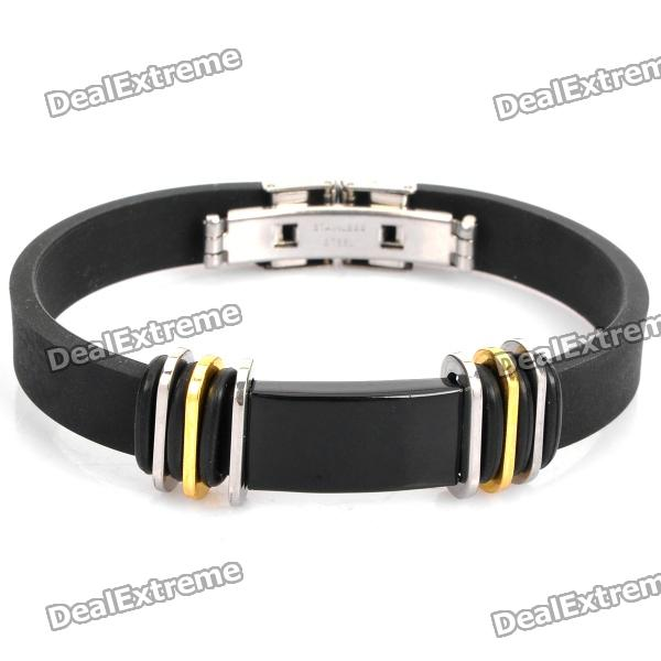 Stainless Steel Pressure Reduction Magnetic Bracelets Bangles - Black stainless steel pressure reduction magnetic bracelets bangles black blue