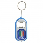 Cool Bottle Opener + White LED Light with Italy National Soccer Team Logo - Blue (3 x LR41)