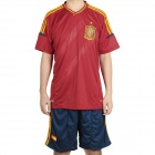 UEFA Euro 2012 Home Jersey Shirt & Shorts Set for Spain Team - Red + Dark Blue (Size M)