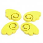 Auto Car Door Guard Protector Decorative Sticker - Yellow (4-Piece)