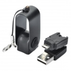 360 Degree Rotating USB Male to Micro USB Male Adapter