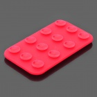 Mini Double-Sided Suction Cup Silicone Pad for Mobile Phone - Red