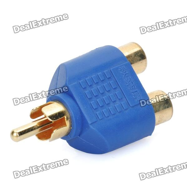 gold-plated-rca-male-to-2-rca-female-adapter-blue