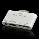HDMI Camera Connection Kit w/ Composite AV Cable / USB Cable for iPad / iPhone + More - White