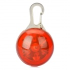 1-LED 2-Mode Red Pet Collar Pendant Safety Light (1 x CR2032)