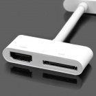 Digital AV HDMI Adapter for Apple iPad / iPhone 4 / iPod Touch - White