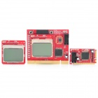 "Dual 1.6"" LCD Mini PCI-E PCI LPC Laptop / PC Diagnostic Post Test Debug Cards Set"