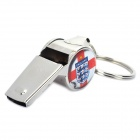 Cool Aluminum Cheering Whistle Keychain with England National Soccer Team Logo - Silver