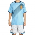 UEFA Euro 2012 Away Jersey Shirt & Shorts Set for Spain Team - Blue + White (Size L)