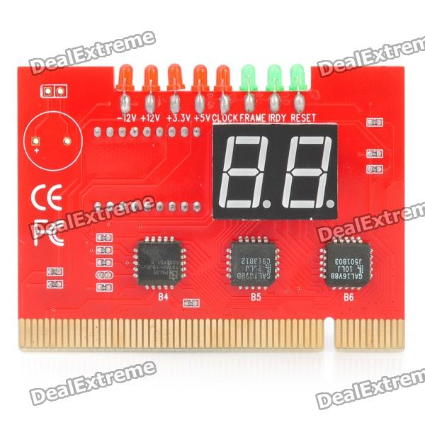 Double-Sided 2-Digit Display PCI Desktop PC Dual Analyzer POST Debug Card