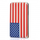 Protective American Flag Leather Case Cover for Galaxy s2/i9100 - White + Red