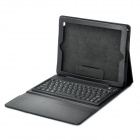 Bluetooth V3.0 76-Key QWERTY Keyboard w/ PU Leather Case for the NEW iPad - Black