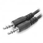 3,5 mm Male till Male Audio Connection Cable - Svart (51cm)