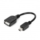 Mini 5pin to USB Female OTG Data Cable - Black