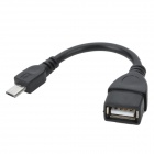 Micro 5pin to USB Female OTG Data Cable - Black