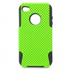 Protective Plastic + Silicone Back Case for Iphone 4 / 4S - Green