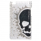 Shining Skull PatternAcrylic Diamond Protective Plastic Case for   Ipod Touch 4 - Silver + Black