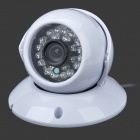 1/3 CCD CCTV Digital Video Camera w/ 24-IR LED - White (NTSC / 420Line)
