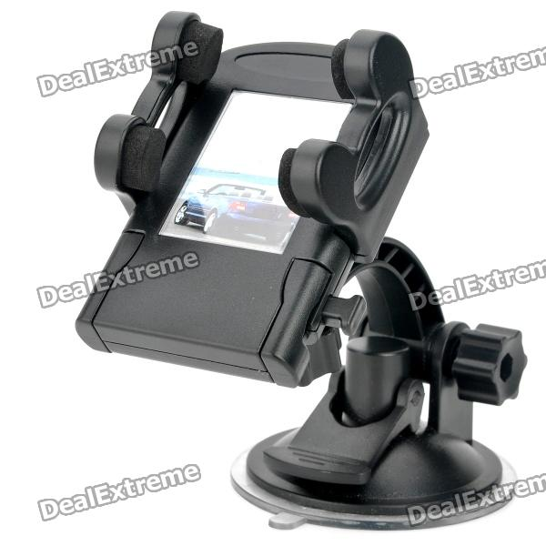 Universal Swivel Suction Cup Mount Holder for Cell Phone / MP4 Player + More - Black windshield universal swivel rotation car mount holder for cell phone gps psp iphone black