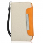 KALAIDENG Protective PU Leather Flip-Open Case for Samsung i9070 - Off White