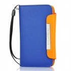 KALAIDENG Protective PU Leather Flip-Open Case for Samsung i9070 - Blue