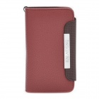 KALAIDENG Protective PU Leather Flip-Open Case with Strap for Samsung i9070 Galaxy S Advance - Red